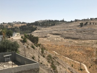 View from the City of David viewing terrace